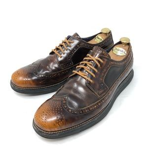 Cole Haan Lunargrand Brown Burnished Wing Tip 11
